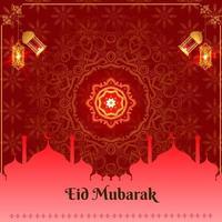 abstract holy elegant decorative background for eid mubarak vector