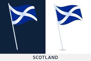 bandera de la ola de escocia vector