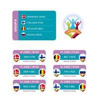 football 2020 group b match vector