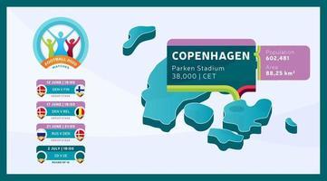 Copenhagen stadium football 2020 vector