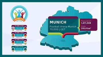 Munich stadium football 2020 vector