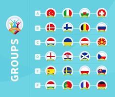 grupos de fútbol 2020 vector