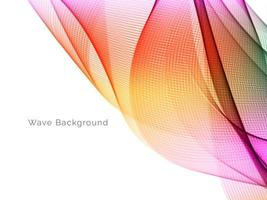 colorful wave style smooth modern background vector