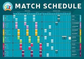 calendario de partidos de fútbol 2020 vector
