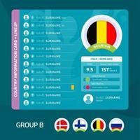 group b football 2020 vector