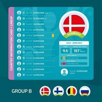 football 2020 group b vector