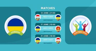 Ukraine football 2020 match vector