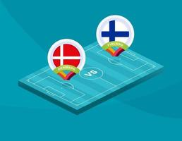 Denmark vs Finland football vector
