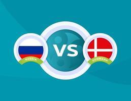 russia vs Denmark football vector
