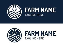 farm drop logo set vector