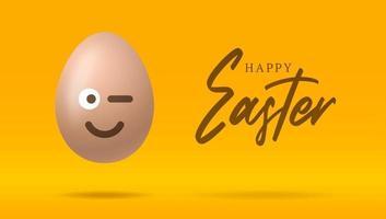 banner de sonrisa de huevo de pascua vector