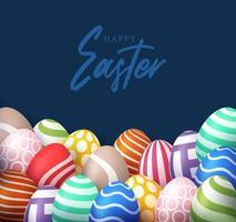 easter realistic egg banner vector