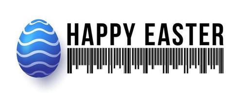 happy easter egg banner sale vector