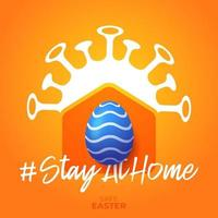 stay home easter banner