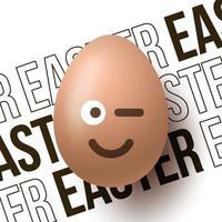 banner de huevo de pascua de sonrisa vector