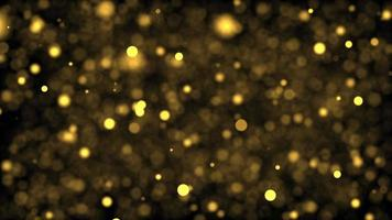 Blinking Glittering Particles Gold Bokeh Particles Loop Effect