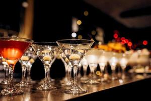 Cocktail glasses for wine and champagne photo