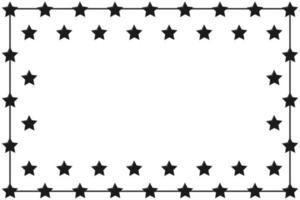 Black Stars Border Frame vector