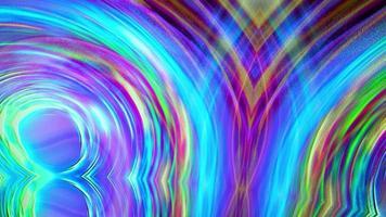 luz de néon multicolorida hipnótica psicodélica perfeita em movimento video