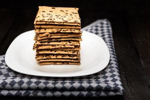Cookies with sunflower seeds photo