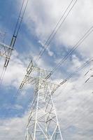 High-voltage power line photo