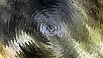 Ondes du cercle central scintillant ondulation de réflexion de la lumière dorée video