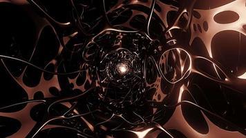 Loop Flying Science Fiction Web Corridor Copper Tunnel video