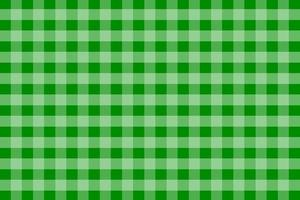 Green Gingham Pattern Background vector