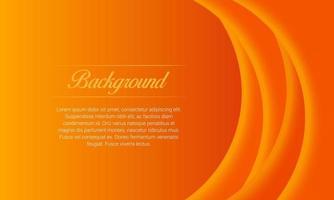 Shiny Wave Orange Background vector