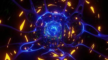 portal sci-fi abstrato caverna alienígena túnel sem fim futurista