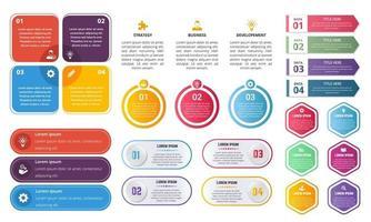 conjunto de elementos gráficos infográficos vector