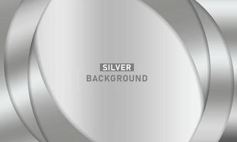 Abstract Silver Curves Background vector