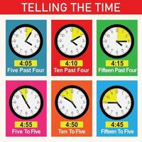 Telling the Time Educational Design for Kids