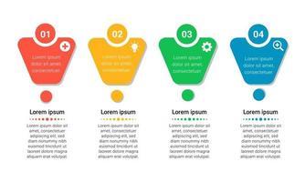 Plantilla de negocio de infografía colorida con iconos y números vector