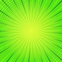 Fondo de arte pop cómico verde vector