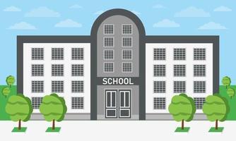diseño plano del edificio de la escuela vector