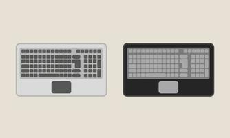 ilustración de teclado de computadora portátil plana vector