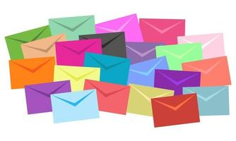 Stack of Envelopes Flat Design vector