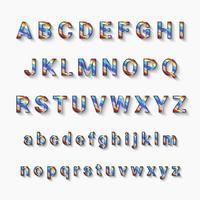 alfabeto cromático de la a a la z con mayúsculas y minúsculas