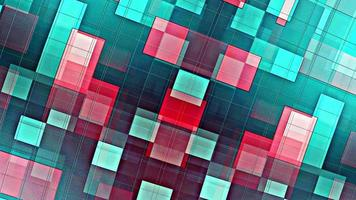 Fast Moving Green Red Checker Grid Loop Motion video