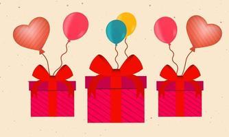 Elegant Gift Celebration Element vector