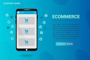 Online Shopping Ecommerce Banner vector
