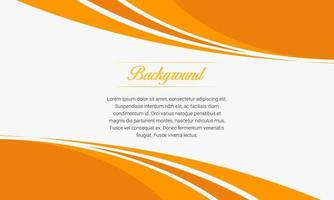 Abstract Orange Curve Business Background vector