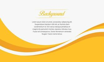 Abstract Yellow Wave Presentation Background vector