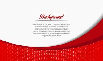 Red Curves Business Background With Halftone vector