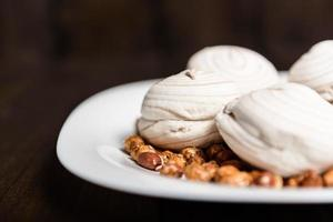 Marshmallows and peanuts