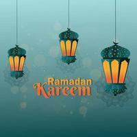Ramadan kareem islamic festival background vector