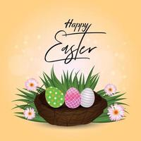 Creative background or greeting card of easter day vector