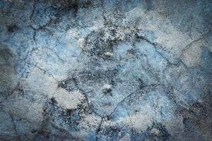Detail old light blue plaster photo
