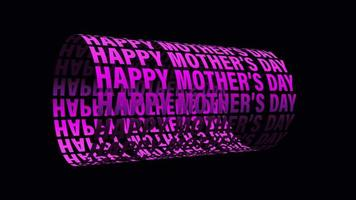 Happy Mothers Day 3 D Text Wheel Loop Isolated